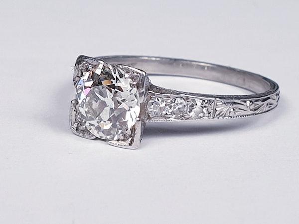 Art Deco Geometric Diamond Engagement Ring  DBGEMS - image 4