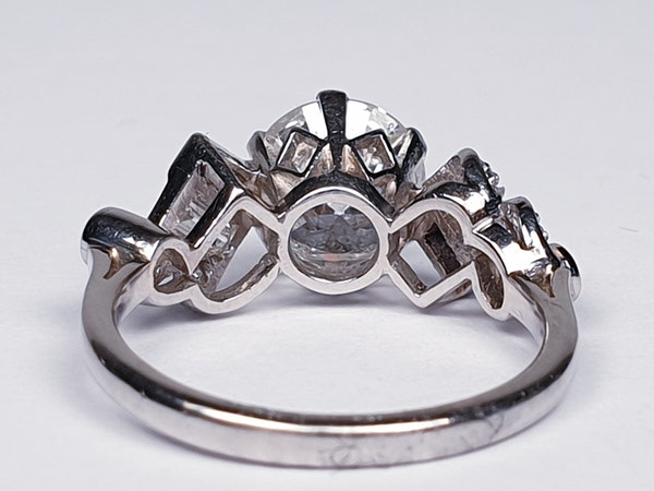 1.61ct 1930's art deco diamond engagement ring  DBGEMS - image 2