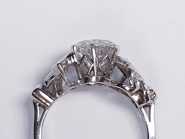 1.61ct 1930's art deco diamond engagement ring  DBGEMS - image 3