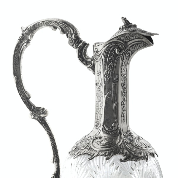 Continental Silver and Cut Glass Claret Jug, c.1890 - image 4