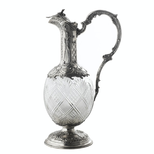 Continental Silver and Cut Glass Claret Jug, c.1890 - image 1