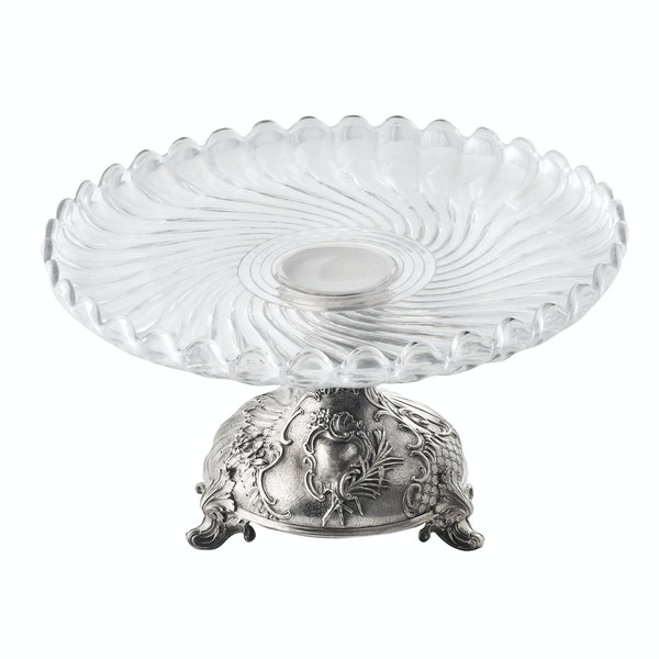 French Silver and Glass Cake Stand, c.1900 - image 4