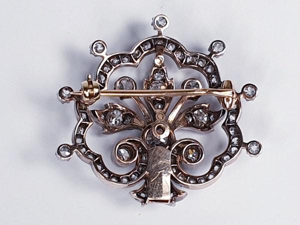 Victorian Diamond Tiara Centre Piece/Brooch DBGEMS - image 1