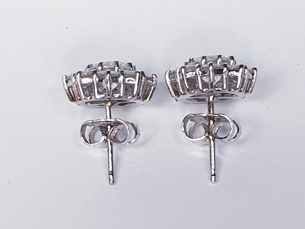 diamond cluster earrings DBGEMS - image 1