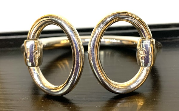 Hermes snaffle silver bangle - image 1