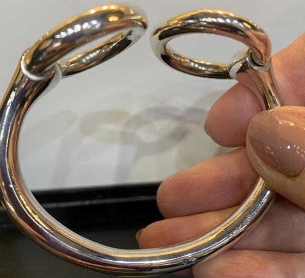 Hermes snaffle silver bangle - image 2