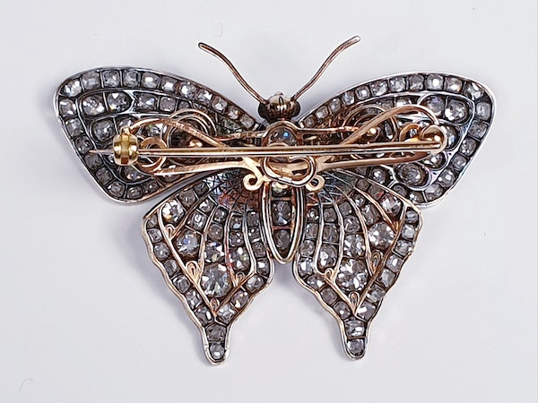 Fine Diamond Butterfly with en tremblant wings  DBGEMS - image 4