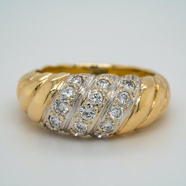 18K yellow gold 0.40ct Diamond Ring - image 1
