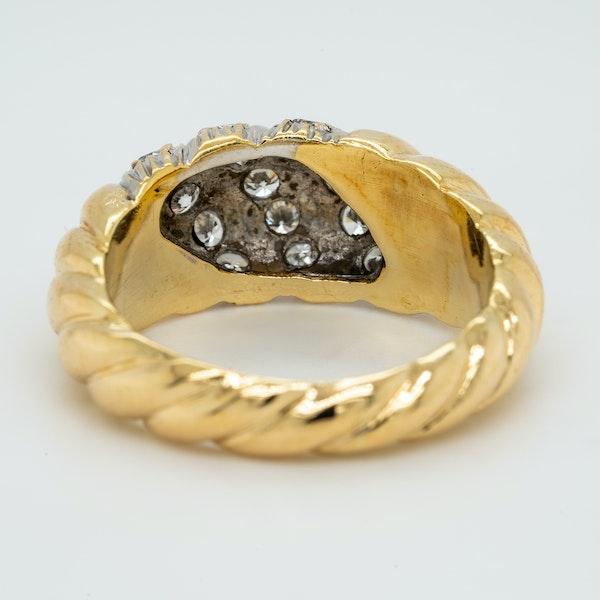 18K yellow gold 0.40ct Diamond Ring - image 4