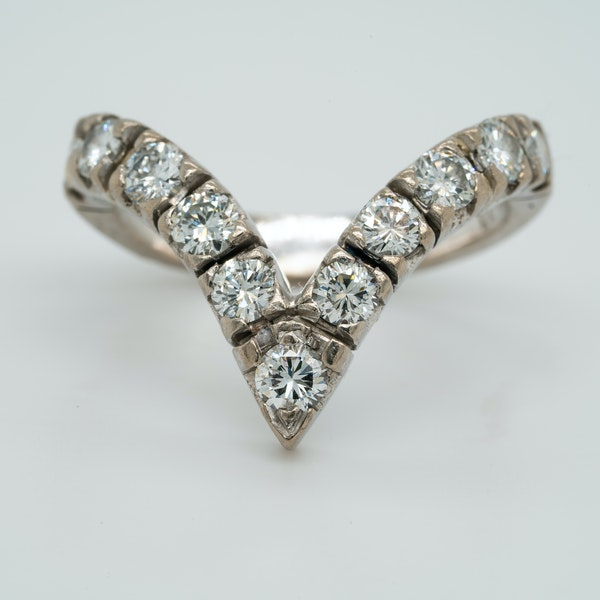 18K white gold 1.25ct Diamond Ring - image 1