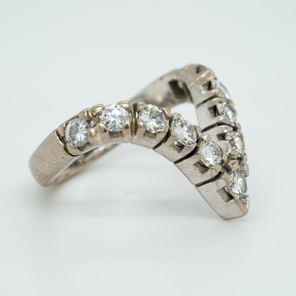 18K white gold 1.25ct Diamond Ring - image 2