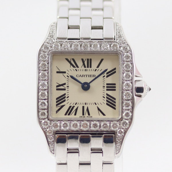 Cartier Ladies Santos Demoiselle, 18K White Gold, Diamond, Cartier service in 2018 - image 1