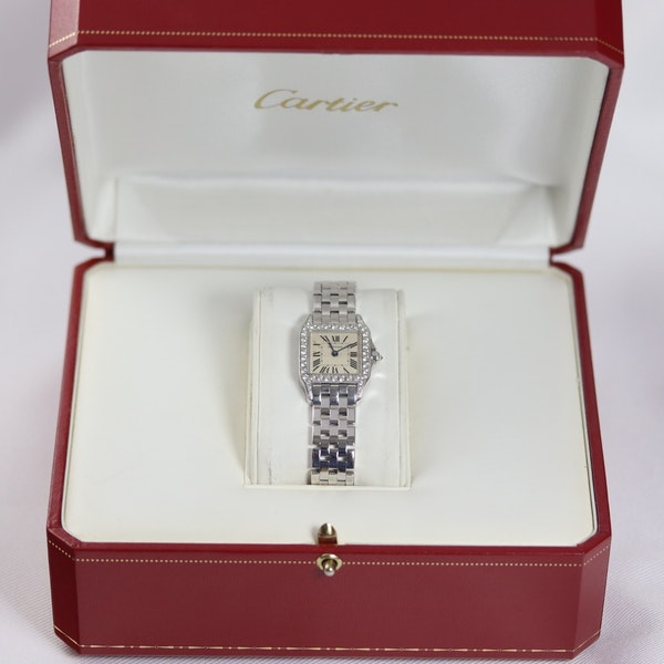 Cartier Ladies Santos Demoiselle, 18K White Gold, Diamond, Cartier service in 2018 - image 7