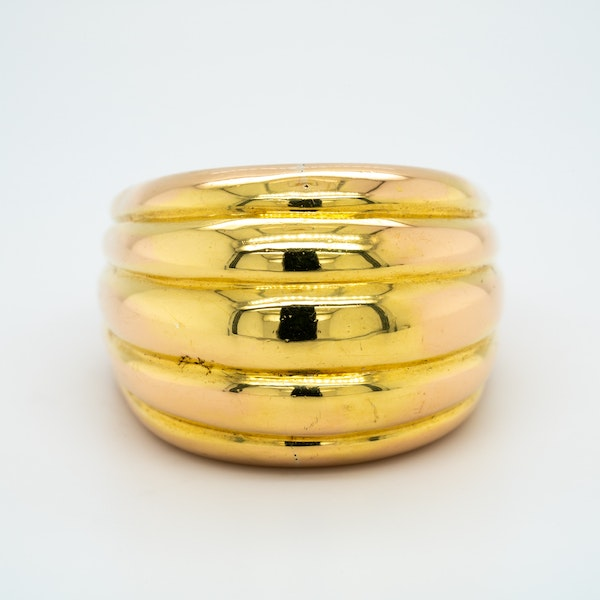 French heavy gold ring circa 1940's - image 1