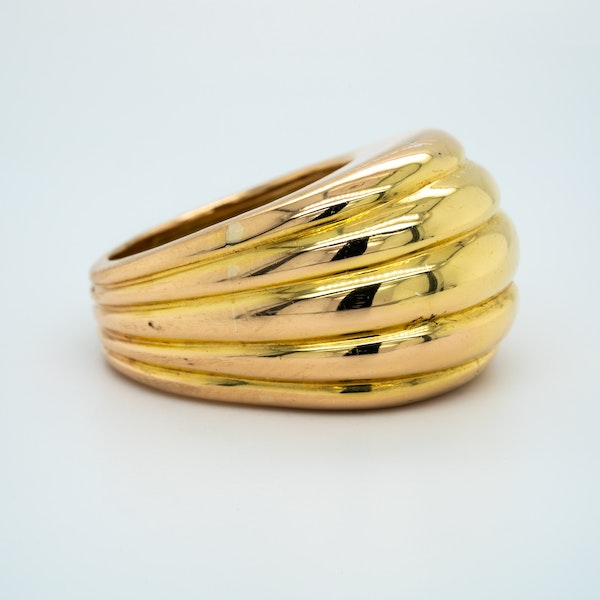 French heavy gold ring circa 1940's - image 2