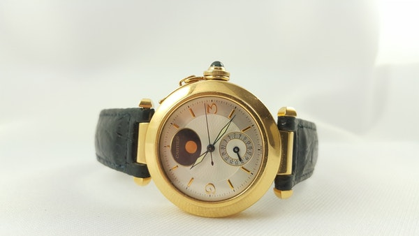 Cartier Pasha 18K Night & Day 38mm Automatic Deployant Clasp - image 9