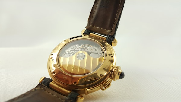 Cartier Pasha 18K Night & Day 38mm Automatic Deployant Clasp - image 7