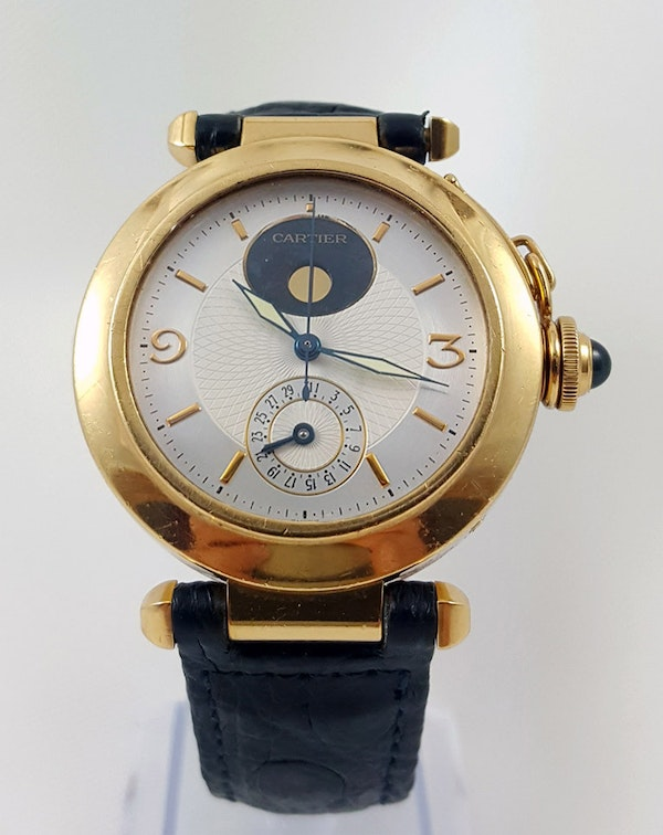 Cartier Pasha 18K Night & Day 38mm Automatic Deployant Clasp - image 1
