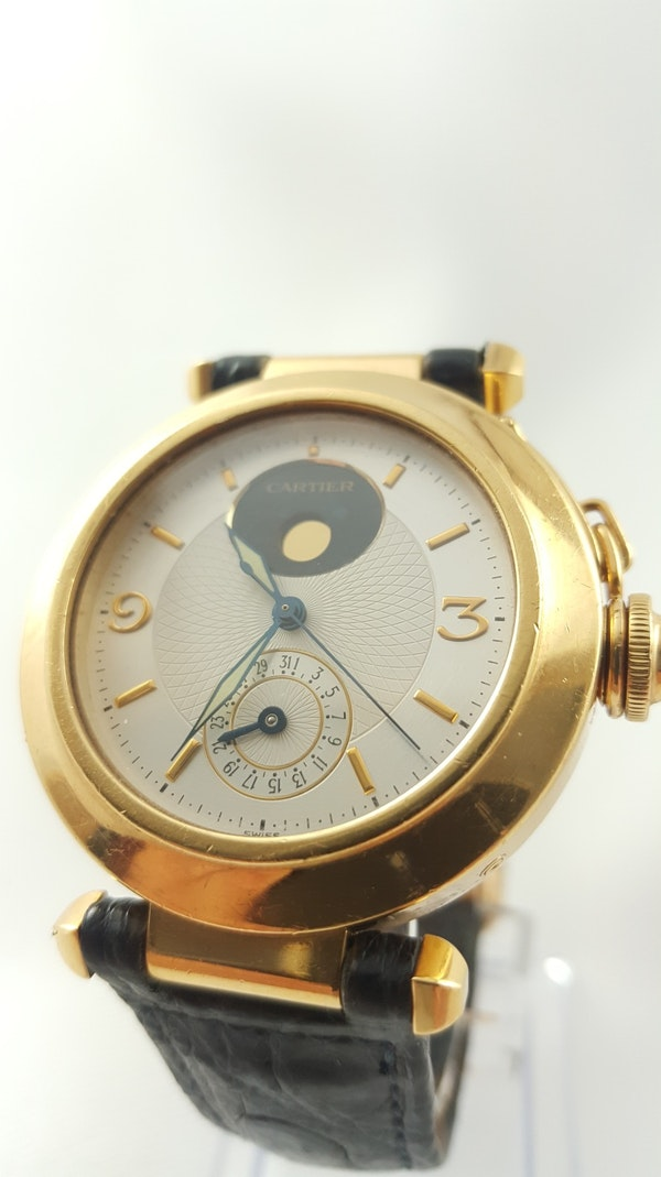 Cartier Pasha 18K Night & Day 38mm Automatic Deployant Clasp - image 4