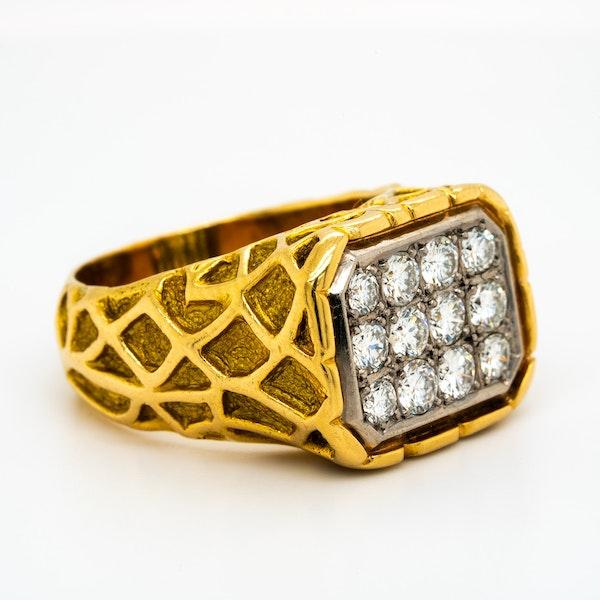 Very cool Swedish made retro ring - image 1