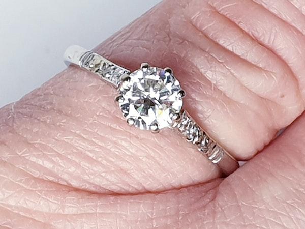 Art Deco Solitaire Diamond Engagement Ring  DBGEMS - image 3