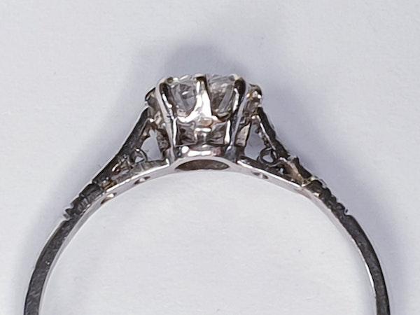Art Deco Solitaire Diamond Engagement Ring  DBGEMS - image 2