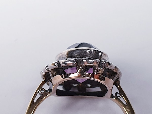 Amethyst and Diamond Cluster Ring  DBGEMS - image 1