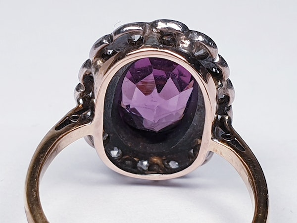 Amethyst and Diamond Cluster Ring  DBGEMS - image 3