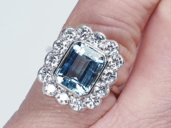 Aquamarine and diamond dress ring  DBGEMS - image 5