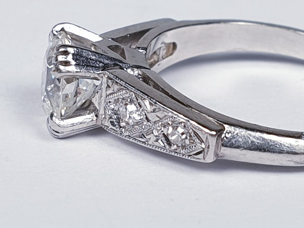 Old European Transitional Cut Diamond Ring  DBGEMS - image 2
