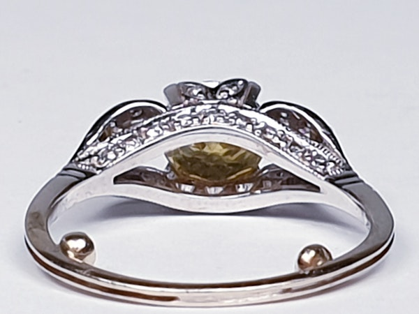 yellow diamond engagement ring  DBGEMS - image 4