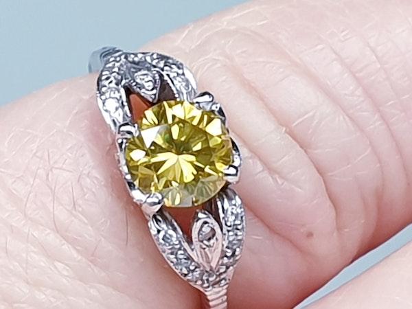 yellow diamond engagement ring  DBGEMS - image 1