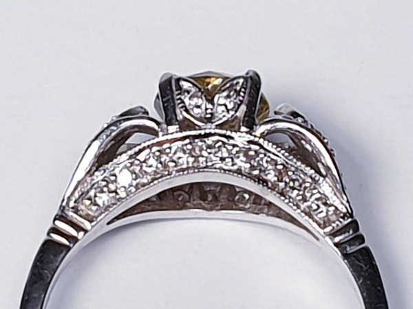 yellow diamond engagement ring  DBGEMS - image 5