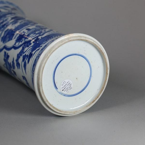 Chinese blue and white beaker vase, Kangxi (1662-1722) - image 2