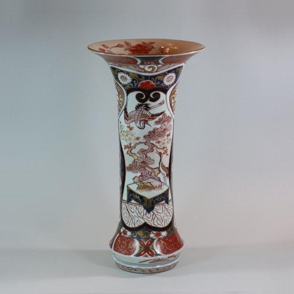 Japanese imari trumpet vase, Edo period, 18th century - image 1