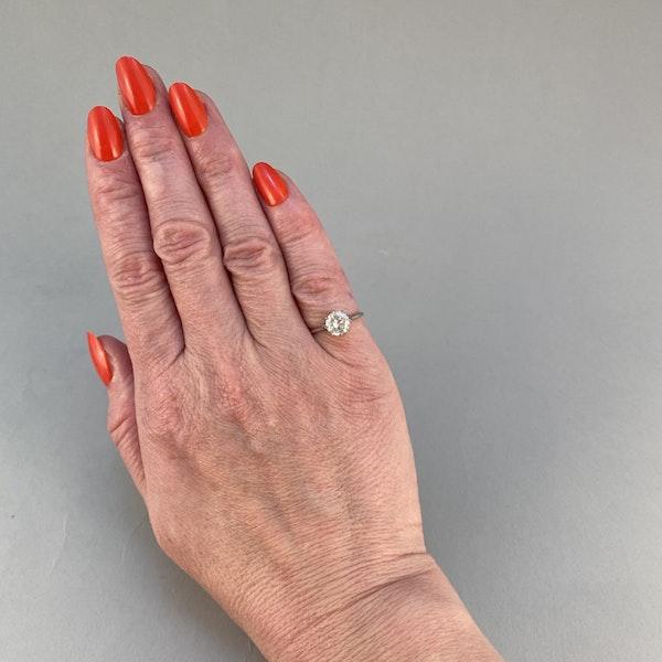 1950's, Platinum Diamond single stone Ring, SHAPIRO & Co since1979 - image 1