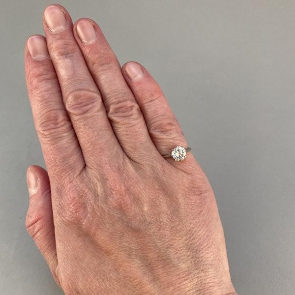 1950's, Platinum Diamond single stone Ring, SHAPIRO & Co since1979 - image 2