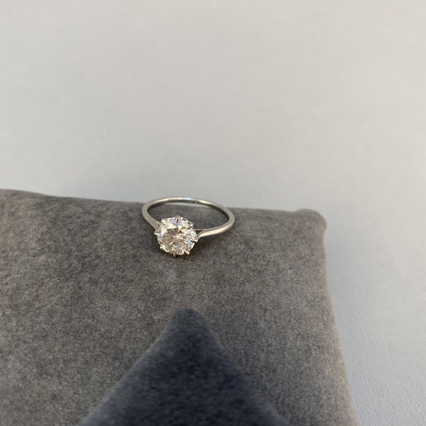 1950's, Platinum Diamond single stone Ring, SHAPIRO & Co since1979 - image 3