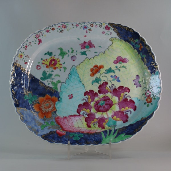 Chinese famille rose tobacco leaf platter, Qianlong (1736-95) - image 1