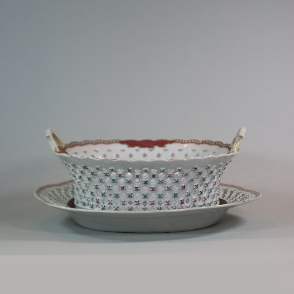 Chinese famille rose basket and stand, Qianlong (1736-95) - image 6