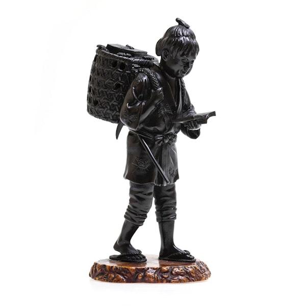 Japanese bronze figure - image 2