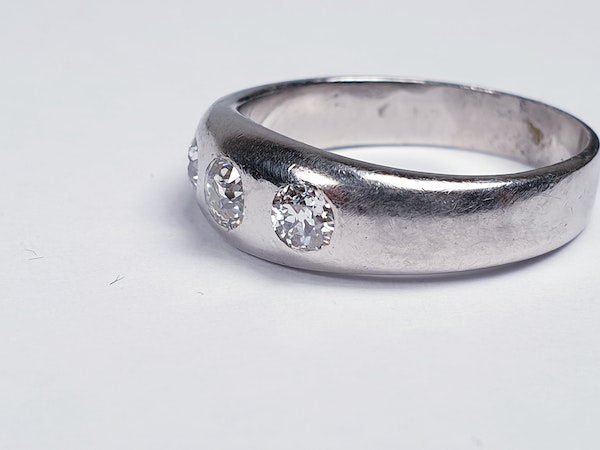 Platinum Gypsy Set Old Cut Diamond Ring  DBGEMS - image 3