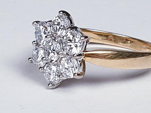 Diamond Cluster Engagement Ring 3473   DBGEMS - image 1