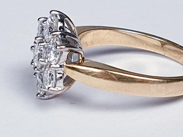 Diamond Cluster Engagement Ring 3473   DBGEMS - image 2