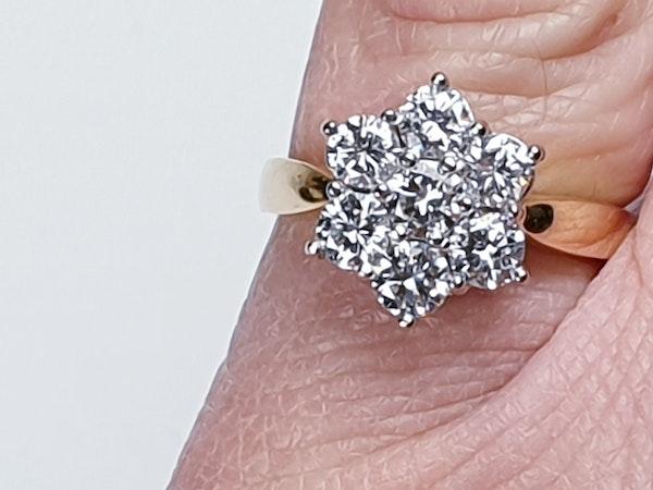 Diamond Cluster Engagement Ring 3473   DBGEMS - image 4