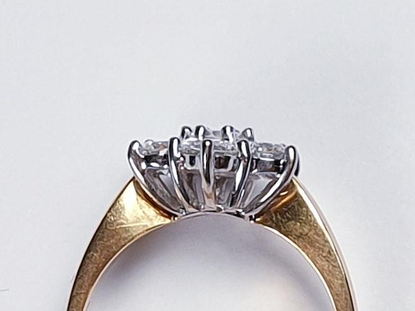 Diamond Cluster Engagement Ring 3473   DBGEMS - image 3