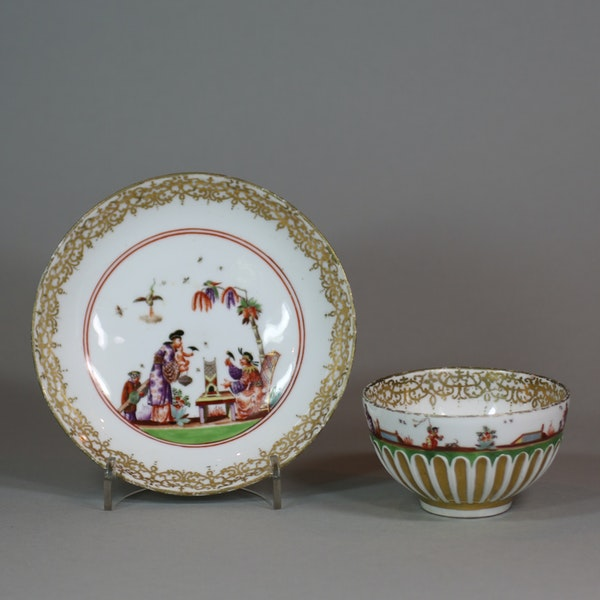 Meissen gadrooned teabowl and saucer, circa 1730 - image 5