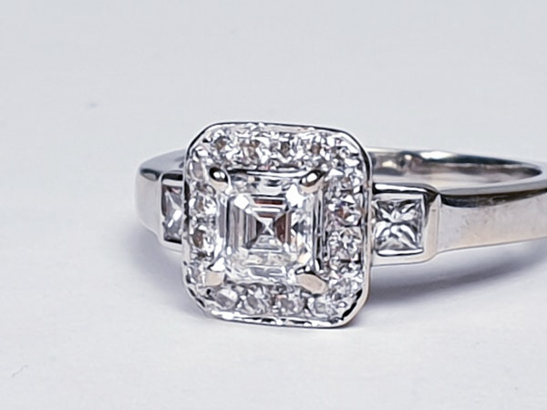 Asscher Cut Diamond Engagement Ring  DBGEMS - image 1