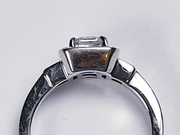 Asscher Cut Diamond Engagement Ring  DBGEMS - image 5