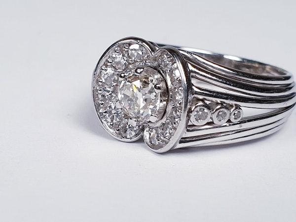 1940's Diamond Cluster Ring  DBGEMS - image 4